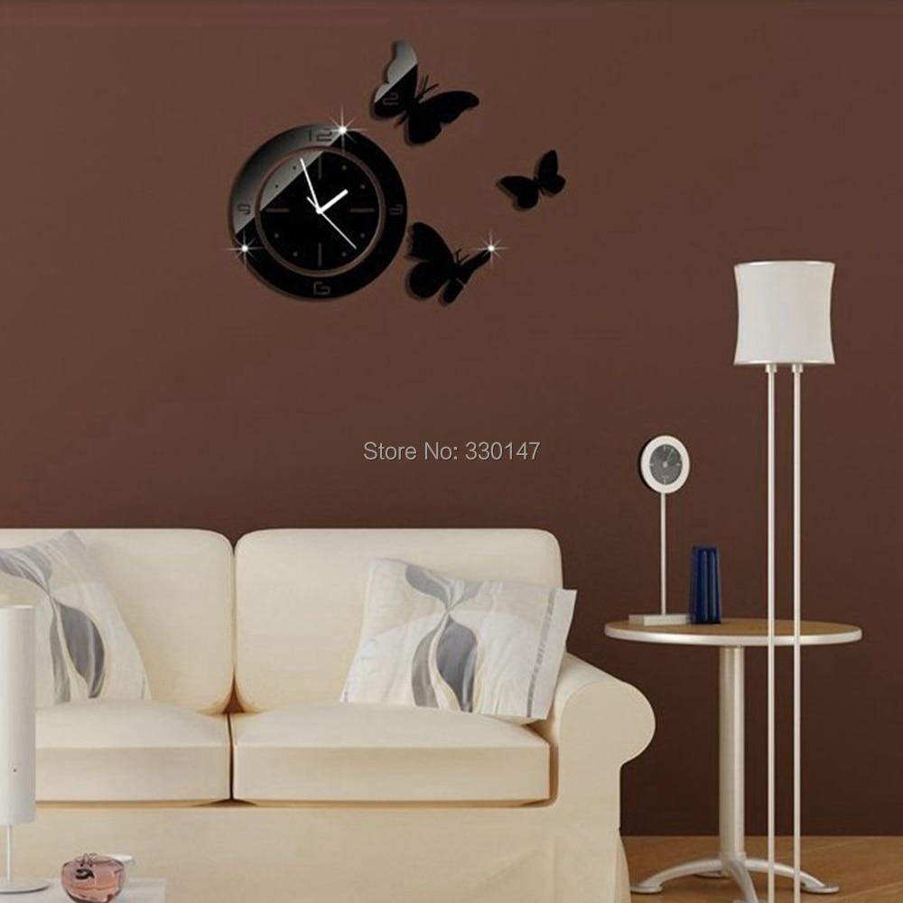 digital office wall clocks digital. Home Decor DIY Mirrors Surface Wall Clocks Round Circle Butterfly Digital Modern Design 3D Watch On Wall-in From \u0026 Garden Aliexpress.com Office R