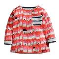 Cair Meninos Primavera Bebê Blusa Crianças Impressos T-shirt de Algodão Macio Crianças T Camisa de Manga Comprida Único Bolso Meninos Roupas (1-6 Anos)
