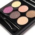Shimmer тени для век Косметический Набор 6 цветов Профессиональная Матовая Природный длительный Макияж Палитры Теней Naked Nude Тени для век