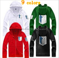 New Arrival 9 Colors Attack on Titan Jacket Scouting Legion Shingeki No Kyojin Cosplay Costume Coat Attack on Titan Hoodie