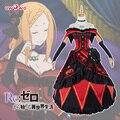 Priscilla Barielle Cosplay Re: Cero cero Re Isekai Kara Hajimeru Seikatsu Vida Nueva En un Mundo Diferente Vestido Rojo traje
