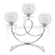 Wedding Holiday Party Tealight Candle Holder Candelabra 3-Arm Wedding Party Table Centerpiece Home Decor