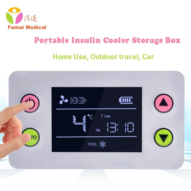 Portable Insulin Storage Box Pill Case refrigerator Interferon Vaccine Rechargeable Cold Outdoor Travel Mini Fridge Drug Reefer все цены