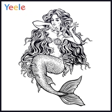 Yeele Photocall Sketch Girl Mermaid Painting Decor Photography Backdrops Personalized Photographic Backgrounds For Photo Studio