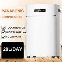 ER 620E Household Commercial High End Dehumidifier Dual Digital Display Dehumidizer 20L Day 60 120 Square