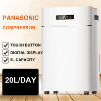 ER 620E Household Commercial High End Dehumidifier Dual Digital Display Dehumidizer 20L Day 60 120 Square