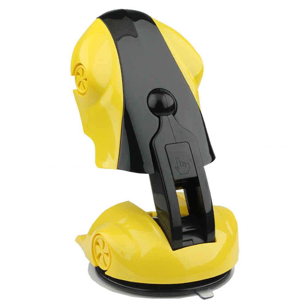 Желтая модель гоночной машины держатель для мобильного телефона 360 °
