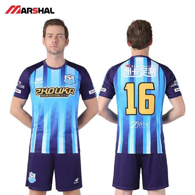 2018 de 2019 de alta calidad de los hombres Sets de fútbol UNIFORME DE FÚTBOL Camisetas fútbol transpirable azul de entrenamiento ropa deportiva