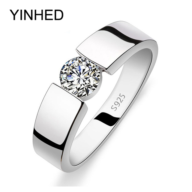 YINHED Wedding Rings for Men and Women Real 925 Sterling Silver Ring