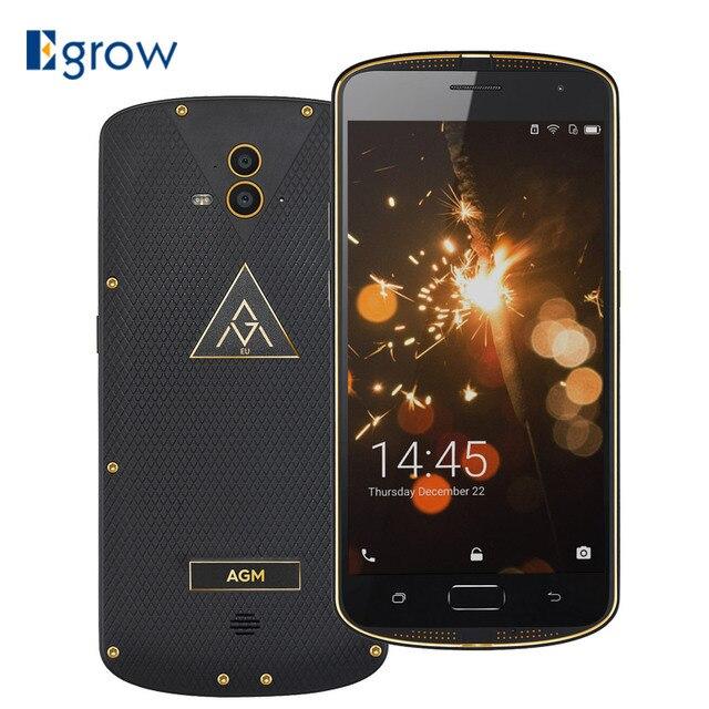 "AGM X1 18K Gold Edition MSM8952 Octa Core 4GB RAM 64GB ROM IP68 Waterproof 5.5"" Mobile Phones 5400mAh Fingerprint ID Smartphone"