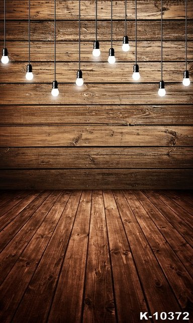 Wood Photo Background Brown Bright Light Bulb Decor Photographic Backdrops Photocall For Wedding Backgrounds