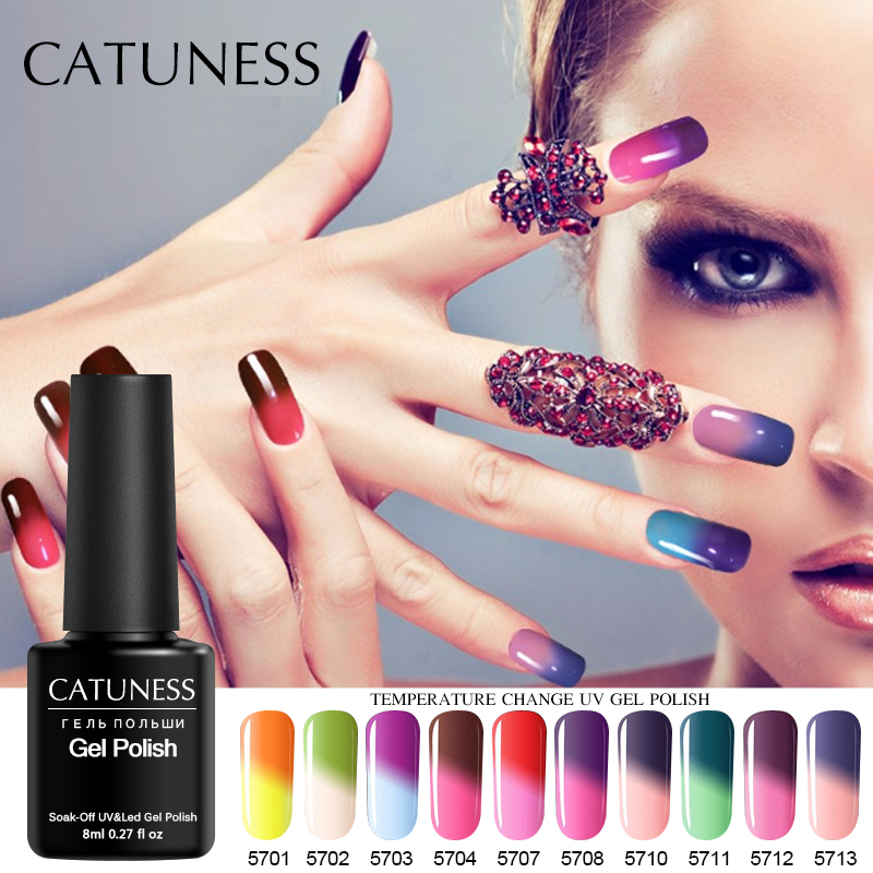 Catuness Temperature Change Color Nail Uv Gel Blend Varnish