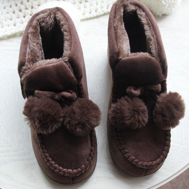 Zapatos de mujer para el piso en casa Suave, corte alto, amante, - Zapatos de mujer - foto 3