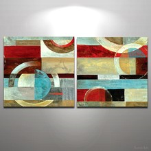 2 Pieces Hand Painted Abstract Oil Painting Modern Wall Art Picture on Canvas for LIving Room Home Decor Wall Painting No Frame