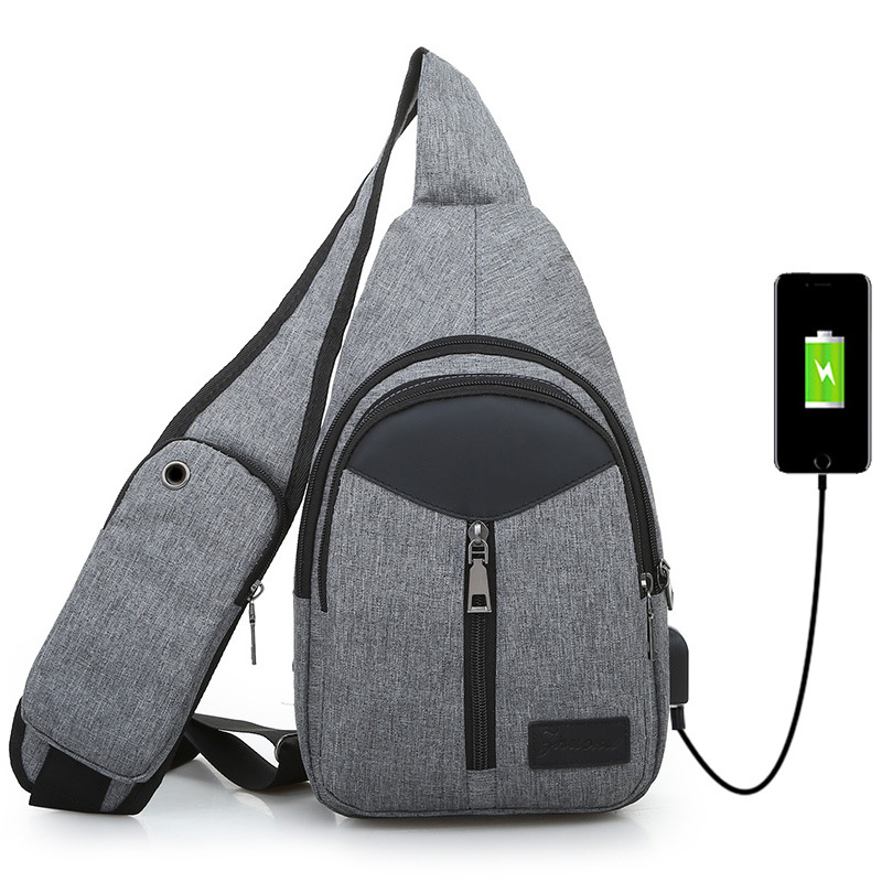 Men Chest Bags USB Charging Waterproof Oxford Crossbody Bags Small Sling Single Shoulder Bags Outdoor mountaineering bag MaleMen Chest Bags USB Charging Waterproof Oxford Crossbody Bags Small Sling Single Shoulder Bags Outdoor mountaineering bag Male