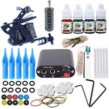 Glitter Tattoo Starter Kit Tattoo Gun Machines Ink Grips Needles Tips Power Supply Beginner Rotary Tattoo Machine Kits Supplies professional tattoo kits tattoo machine gun power supply system needles ink set alloy gripping complete tattoo equipment kit eu