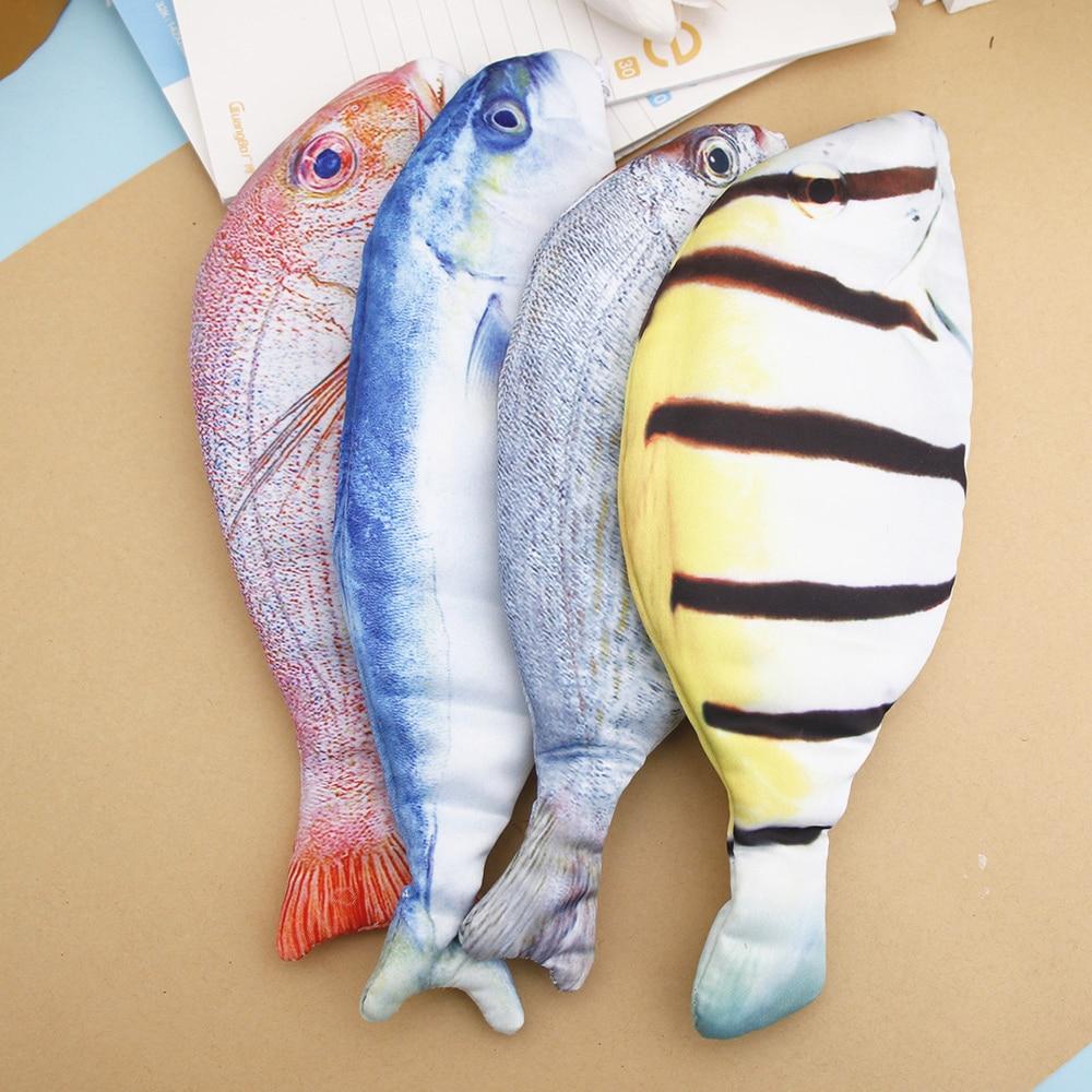Funny Fish Shape Pouch Canvas Bag Pencils School Supplies Stationery Pen Box Hot
