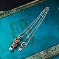 Бесплатная Доставка уникальные ретро серебряное Ожерелье 925 серебряные ювелирные изделия Свисток креста ожерелье мужчины ювелирные изделия подарок