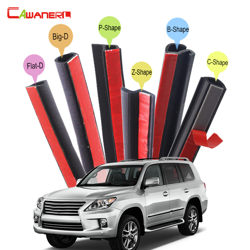 Cawanerl Car Hood 4-Door Trunk Rubber Seal Sealing Strip Kit Weatherstrip Seal Edge Trim For Lexus LX LX570 LX470 LX450 cawanerl whole car hood trunk door sealing seal strip kit seal edging trim rubber weatherstrip for jaguar c x17 f pace