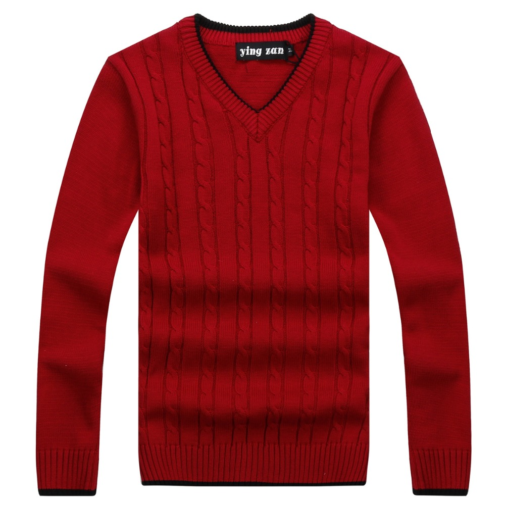 Male Cashmere Wool Sweater Men 2019 Autumn Winter Mens sweaters and pullovers V-Neck Sleeve knitted Christmas Sweaters 1904