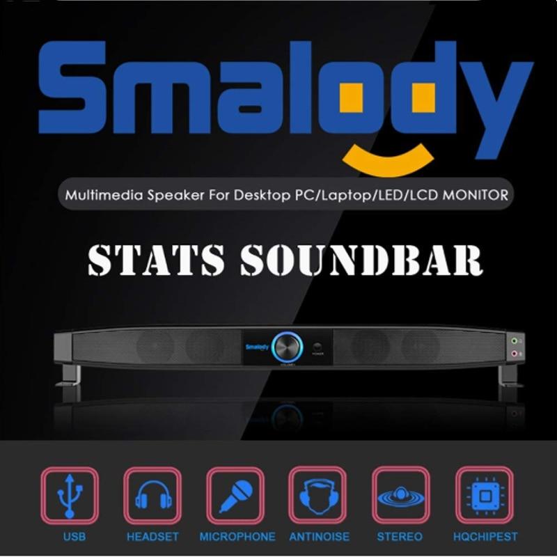 Smalody 9010 Bluetooth Speaker USB Portable Mini Speaker Home Theater Amplifier Sound bar MP3 Speaker Computer Speakers in Portable Speakers from Consumer Electronics