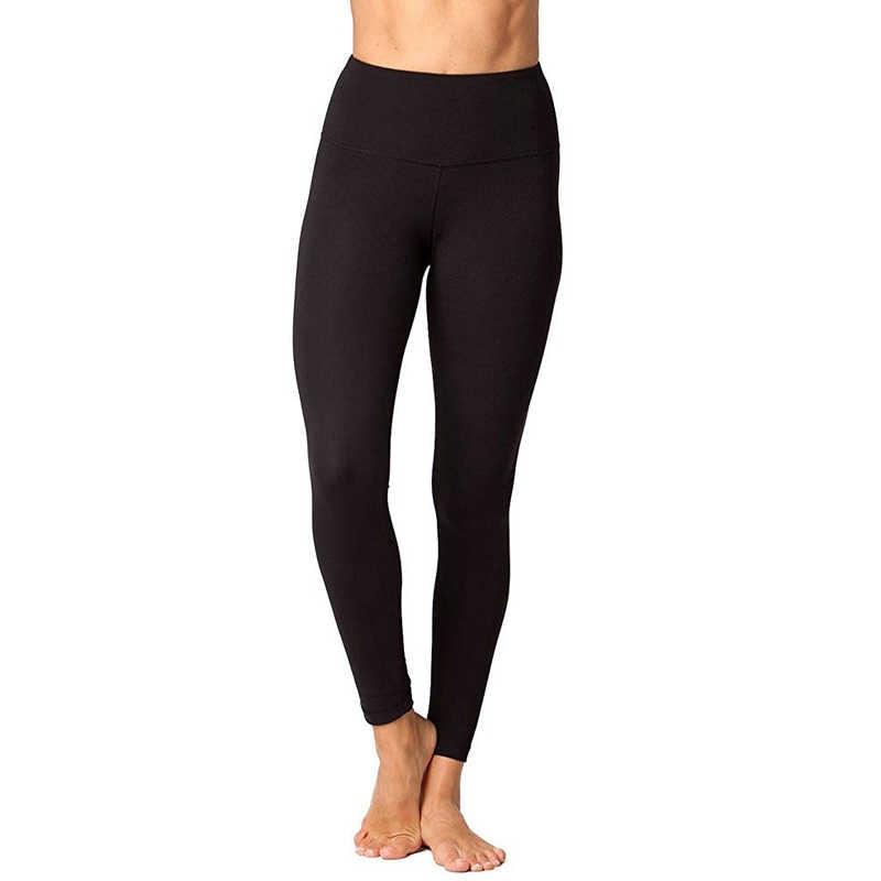 8b73fb0695638 Black Yoga Leggings Women High Waist Running Tights Sports Elastic Pants  Gym Fitness Slimming Leggings Push