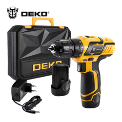 DEKO GCD10.8DU3 10.8-Volt DC Lithium-Ion Battery 10mm 2-Speed Electric Cordless Drill Mini Screwdriver Wireless Power Driver