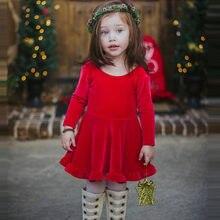 2a35d011eb6 Noël bébé enfants fille rouge velours princesse robes mode arc fête  reconstitution historique robe de mariée enfants vêtements c.
