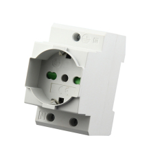 2PCS Italian Type Rail Socket Din Mount Power Modular 16A 250V AC30 Connector Italy Standard