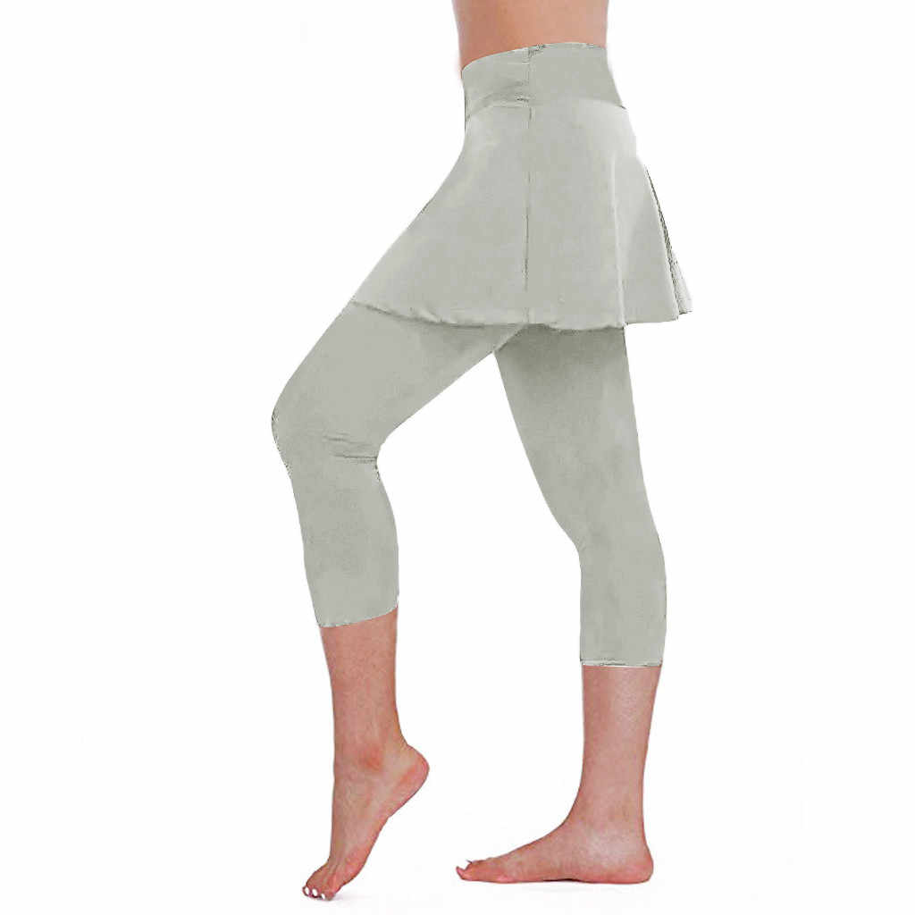Pantalones Cargo Para Mujer 2019 Vrouwen Casual Rok Leggings Tennis Broek Sport Fitness Cropped Broek Брюки Кюлоты