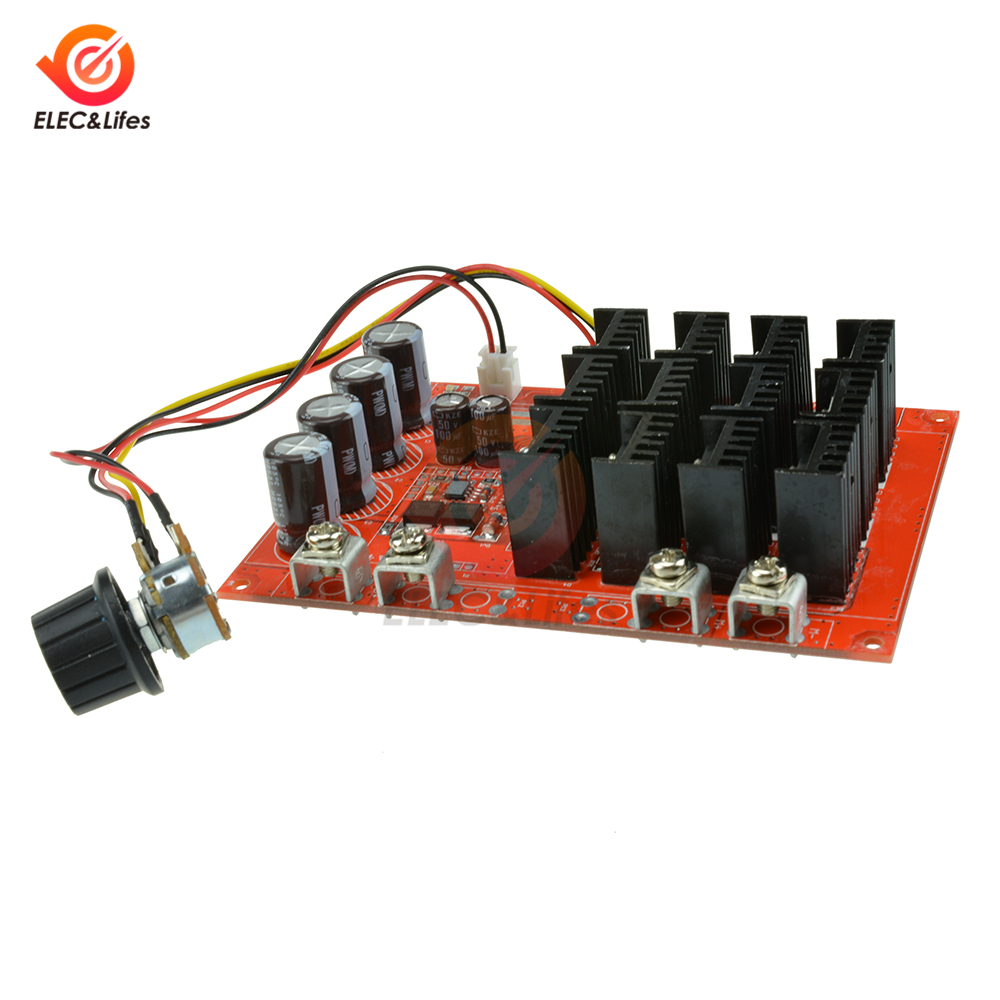 60A DC10-50V PWM 15KHz DC Automotive Motor Speed Controller Module 0.01-3000W KN