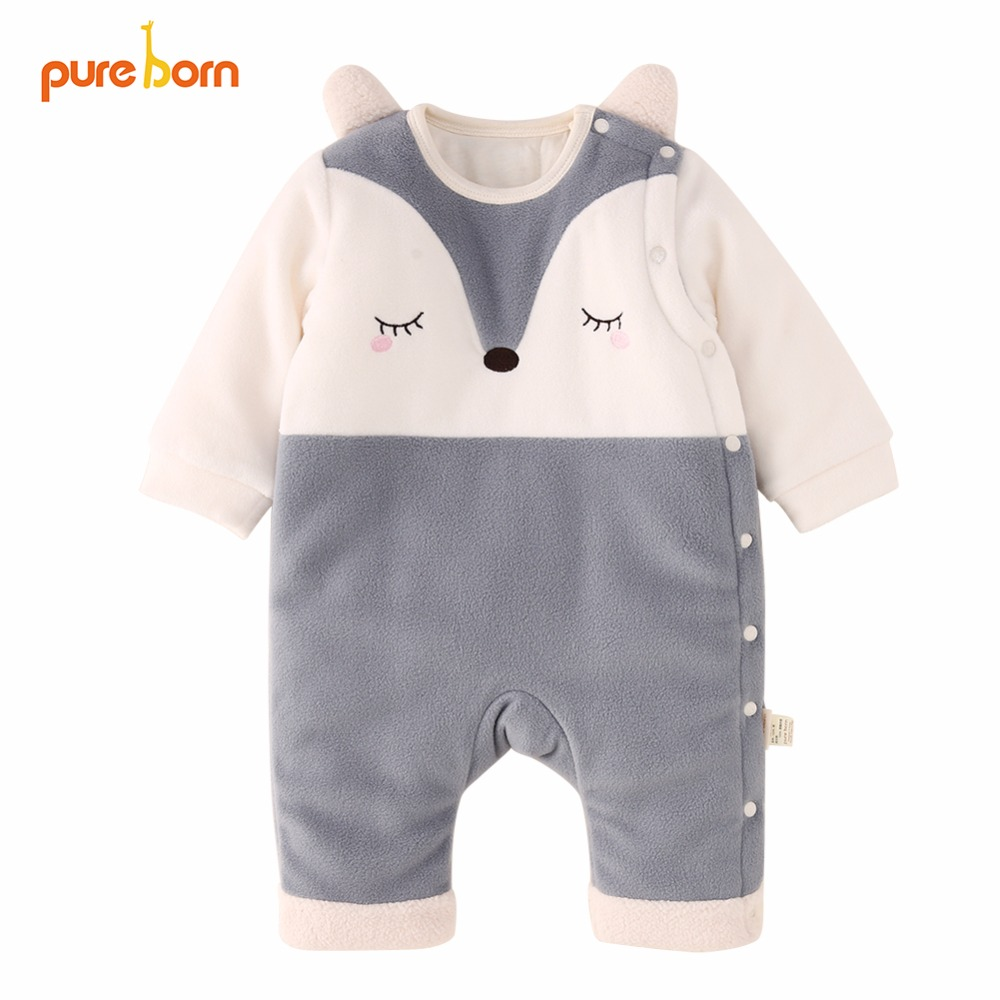 da7e4fa46 Best buy Pureborn Children Winter Overalls Baby Romper Baby Clothes Catoon  Fox Newborn Christmas Jumpsuit New Year s Costume for Boy Girl online cheap