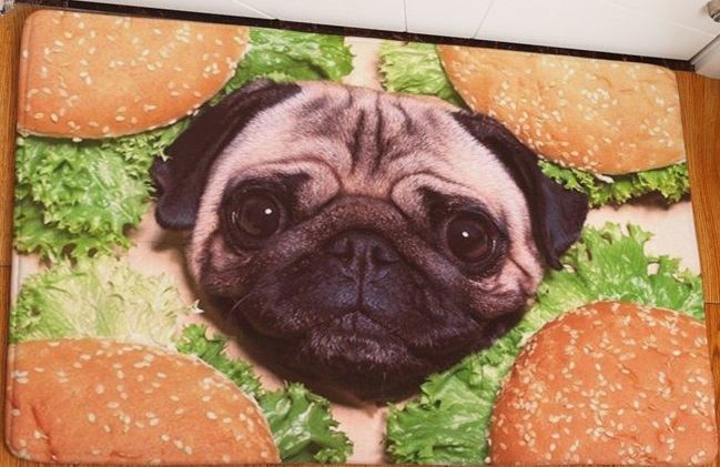 CAMMITEVER 3D Dogs With Hamburger Candy Leaves New Style Carpet Floor Rugs Soft Mats Kids Room Area Rug Living Room Mat Hot Sale