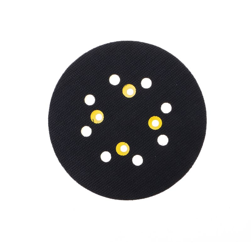 5 Inches 125 MM 8-Hole Back-up Sanding Pad 4 Nails Hook And Loop Sander Backing Pad For Electric Grinder Power Tools Accessories