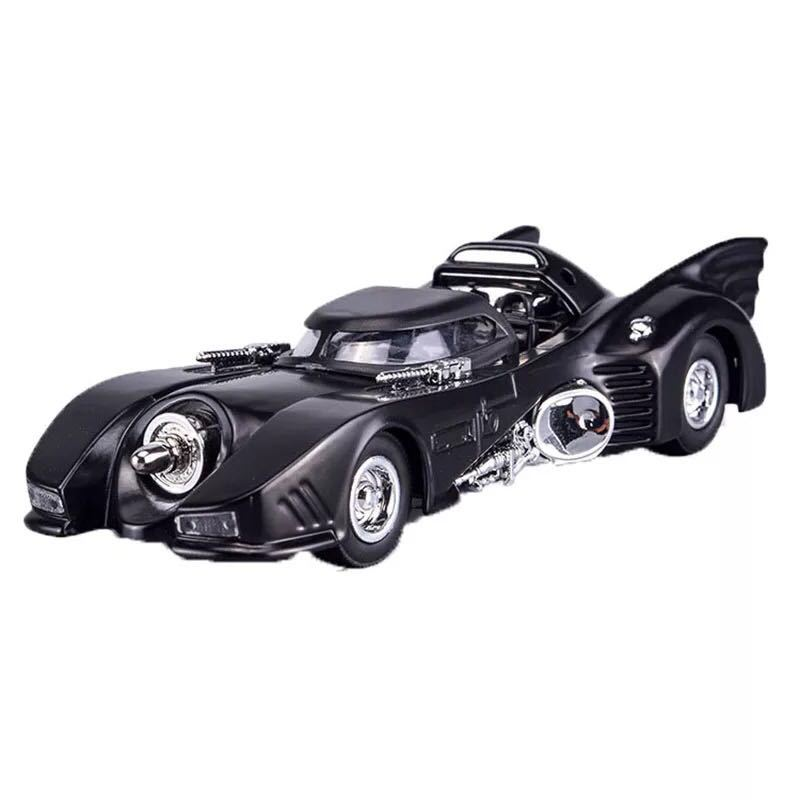 Cartoon Comic Super hero Batman Weapon Mobil Model diecast Car Arkham Knight Action Figure Collectible Model Toy LED light