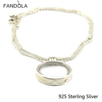 Compatible With European Style Jewelry Pendants 925 Sterling Silver Large Floating Locket Silver Pendant Original Charms
