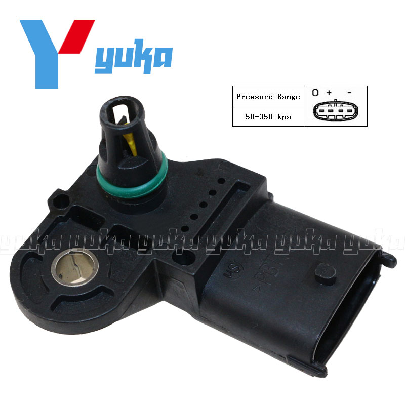 4c3d543ecb7b 100% Test MAP Sensor Intake Air Boost Pressure Manifold Absolute Druck  Sender For Fiat Punto 188 188AX Box Hatchback 1.2 Bi-Fuel