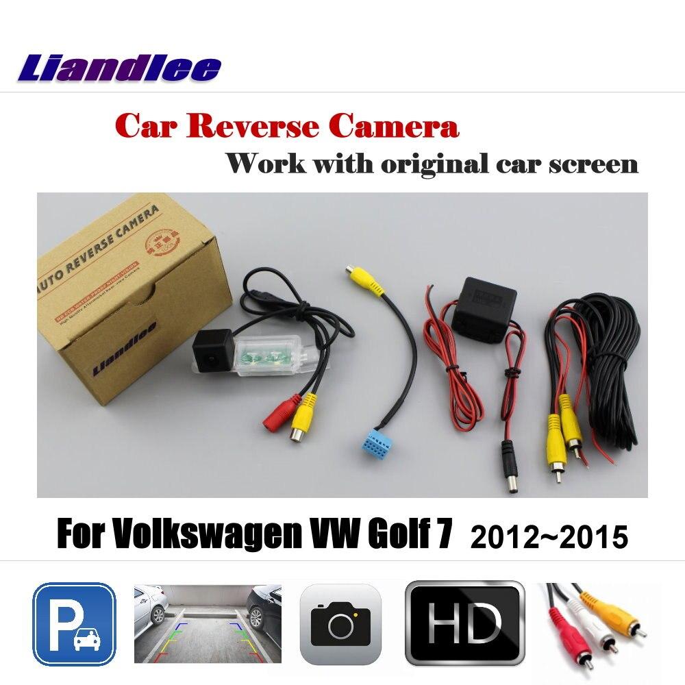 Liandlee voiture caméra de recul pour Volkswagen VW Golf 7 Golf7 2012 ~ 2015 écran d'origine/HD CCD caméra de stationnement de secours