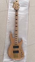 Wholesale New Arrival 5 String Electric Bass Guitar Gold Hardware Ash Body Maple Neck In Natural 180705