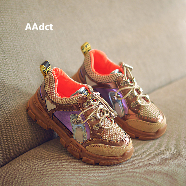 AAdct Autumn Breathable running shoes for girls boys Non-slip sneakers children shoes 2018 Casual sports kids shoes  1