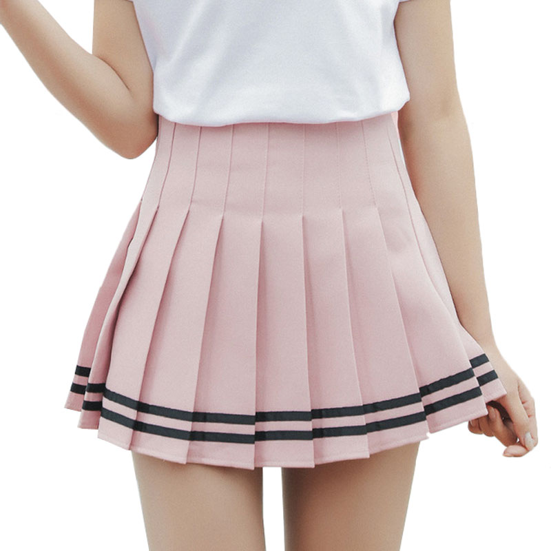 Frauen Plaid Rock Lolita Stil Harajuku Kawaii Süße Gestreifte Röcke Mini Nette Schule Uniformen Saia Faldas Damen Jupe SK6655