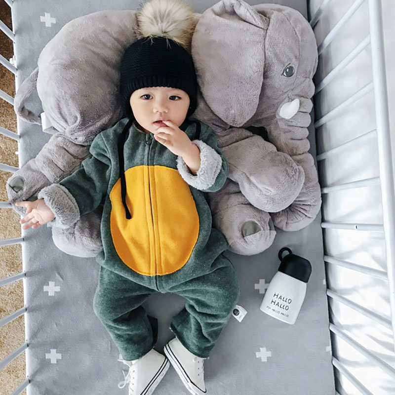 Baby Rompers Winter Newborn 2018 Autumn Baby boy Clothes Jumpsuit Girl animal Rompers Winter Baby Warm Romper Newborn Clothes цена