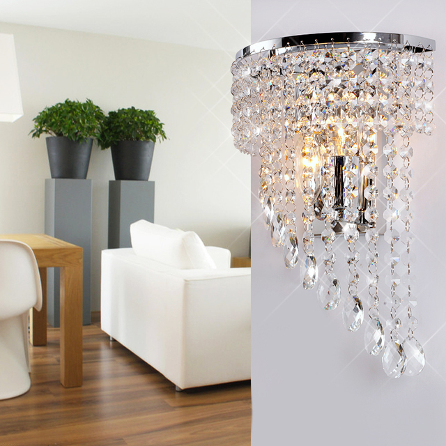 Luxury Half Wing Crystal Hanging Bedroom Wall light Free Shipping ...