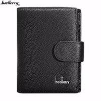 Baellerry Wallet Men Luxury Solid Color Multifunctional Men Leather Wallet Purse Short Type Coin Carteira Money
