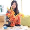 40/60 см 2017 Новый мультфильм моделирование Китайский дракон плюшевые куклы милая романтическая девушка фестиваль ликовали чучела игрушка в подарок ребенка