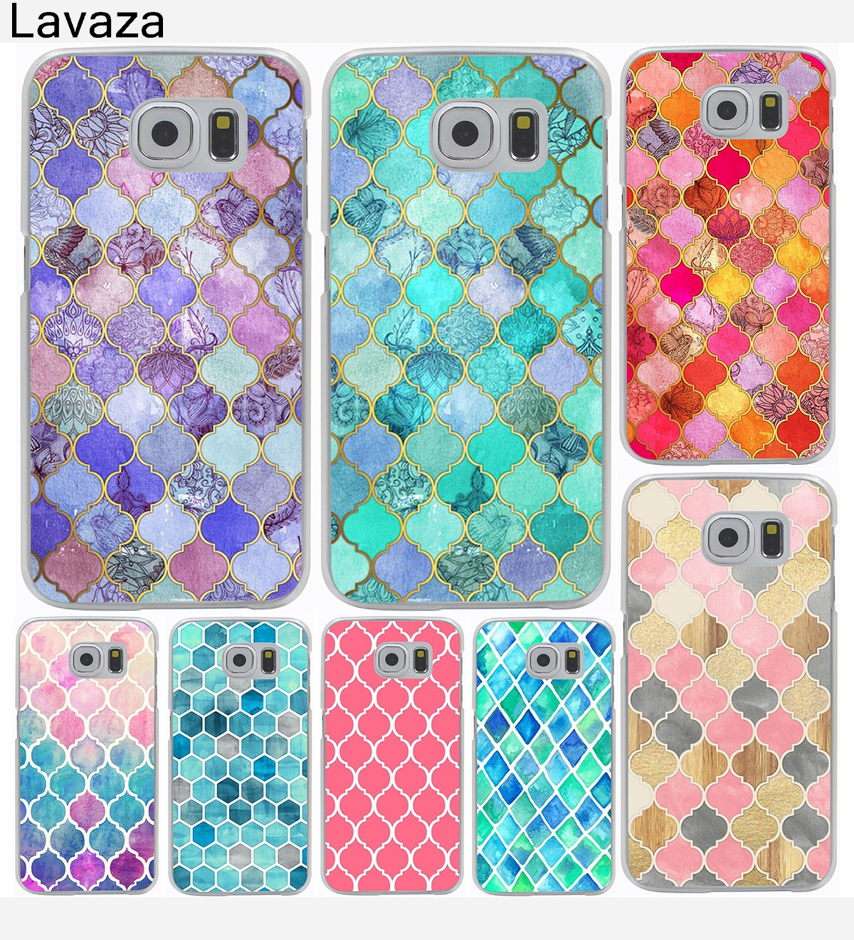 Beautiful Mermaid Scales Hard Cover Case for Galaxy S3 S4 S5 & Mini S6 S7 S8 Edge Plus