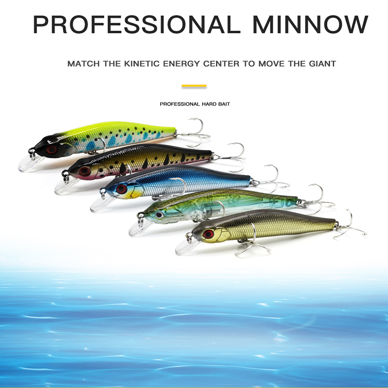 Thritop Artificial Minnow Bait Fishing Lures 8cm 10g 7 Various Colors TP021 Hard Bait Professional Fishing Tackle