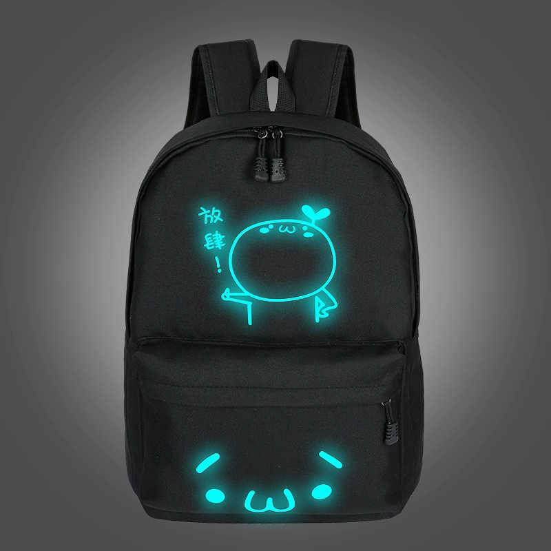 Школьные рюкзаки для мальчиков и девочек-подростков, светящаяся мультяшная сумка, школьная сумка для подростков, студенческий милый рюкзак с котом в школу 2019