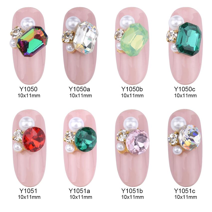 10pcs Glitters strass nail art crystal jelly nails rhinestones alloy ...