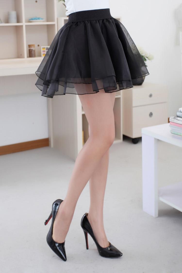 Super nieuwe mode vrouwen zomer korte rokken 2015 zwart gezwollen rok  UI06
